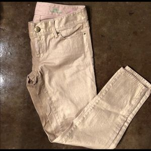 Gold Lilly Pulitzer size 2 jeans.